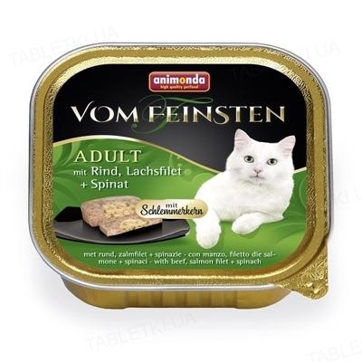 Консерви для кішок Animonda Fom Feinsten з куркою, лососем і шпинатом, 100 г (32 шт)
