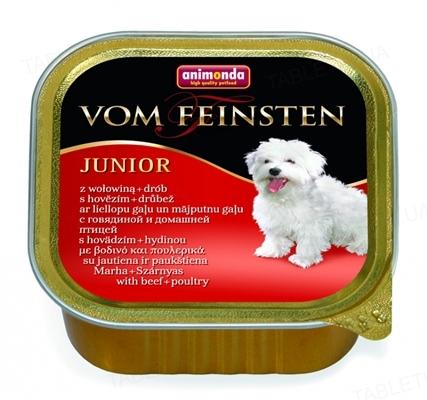 Консервы для щенков Animonda Vom Feinsten Junior с говядиной и птицей, 150 г (22 шт)
