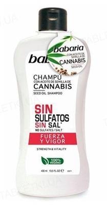 Шампунь Babaria с маслом семян Каннабиса Сила и здоровье волос, 400 мл
