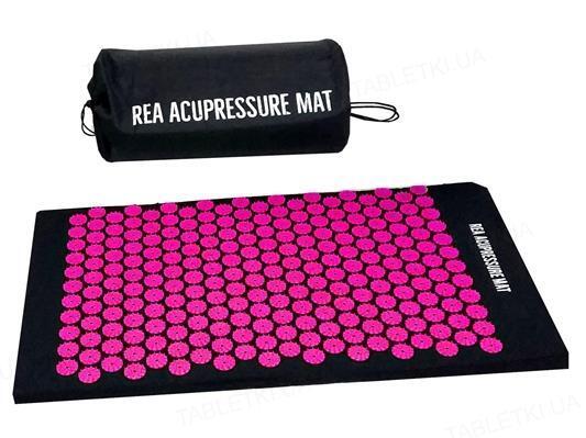 Коврик массажный REA TAPE акупунктурный, розовый