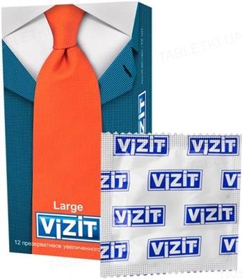 Презервативы Vizit Large увеличенного размера, 12 штук