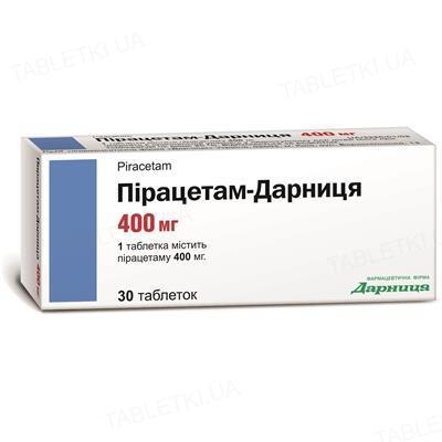 Пірацетам-Дарниця таблетки по 400 мг №30 (10х3)