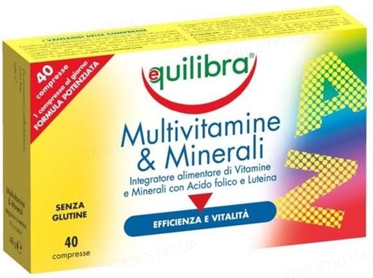 Эквилибра Мультивитамины и Минералы таблетки по 1,2 г №40
