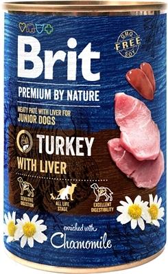Корм влажный Brit Premium Индюшатина для собак с индюшиной печенью, 400 г