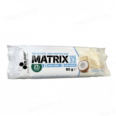 Батончик Olimp Matrix pro 32 coconut, 80 г