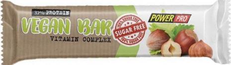 Батончик Power Pro 32% Vegan горіх з сухофруктами без цукру, 60 г