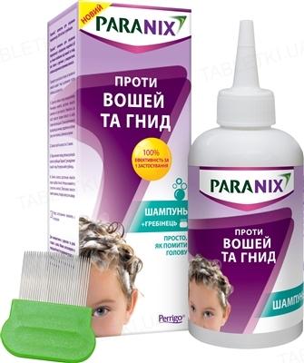 Параникс шампунь для лечения педикулеза по 200 мл + гребешок