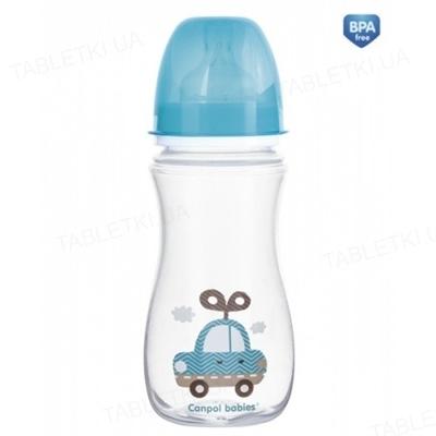 Бутылочка антиколиковая Canpol Babies EasyStart Toys 35/222_blu с широким отверстием, 300 мл