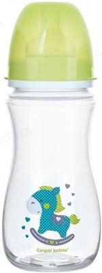 Бутылочка антиколиковая Canpol Babies EasyStart Toys 35/222_gre с широким отверстием, 300 мл