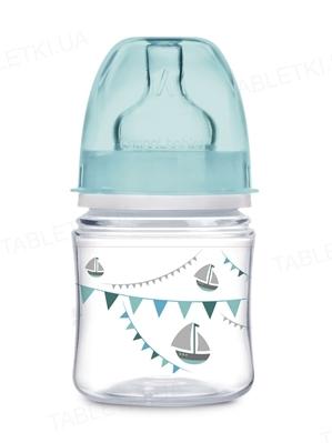 Бутылочка антиколиковая Canpol Babies EasyStart PP Let`s celebrate 35/228_blu  с широким отверстием, 120 мл