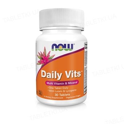Мультивитаминный комплекс NOW Daily Vits таблетки №30