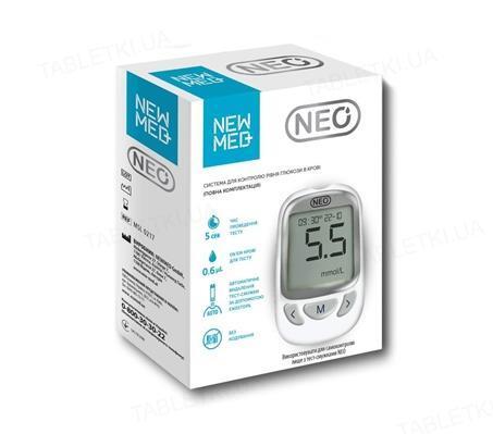Глюкометр NewMed Neo + 50 тест-полосок