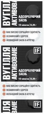 Вугілля активоване Ілан Фарм таблетки №10