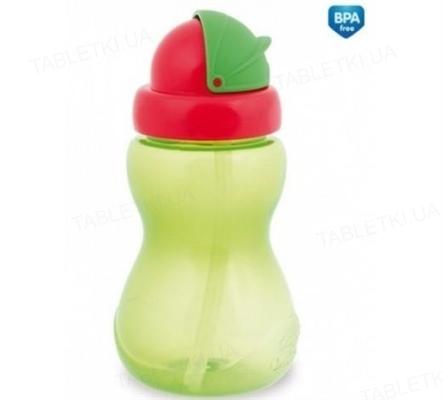 Поильник спортивный Canpol babies с трубкой (малый), зеленый, 56/109_gre, 270 мл