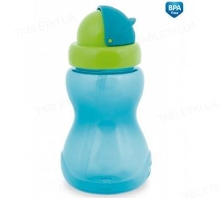 Поильник спортивный Canpol babies с трубкой (малый), синий, 56/109_blu, 270 мл