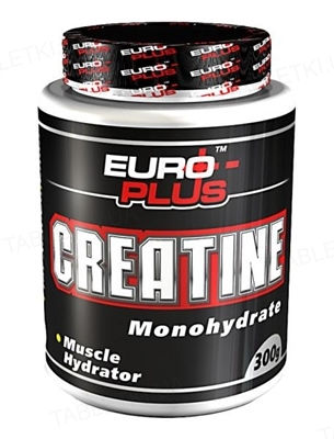 Креатин Euro Plus Creatine Monohydrate для спортсменов, 300 г, банка