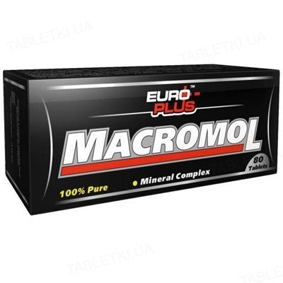 Мінеральний комплекс Euro Plus Macromol для спортсменів, 80 таблеток