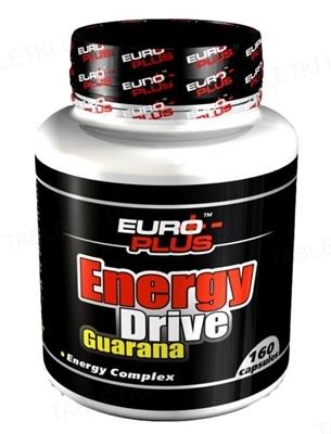 Енергетик Euro Plus Energy Drive Guarana для спортсменів, 160 капсул