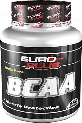 Амінокомплекс Euro Plus BCAA для спортсменів, 160 капсул