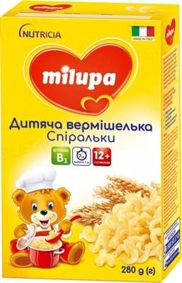 Вермішель дитяча Milupa Спіральки для харчування дітей від 12-ти місяців, 280 г