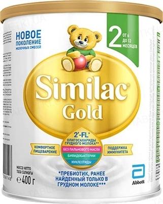 Сухая молочная смесь Similac Gold 2, для детей с 6 месяцев, 400 г