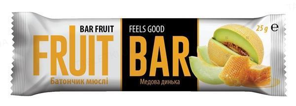 Батончик-мюсли Fruit Bar co вкусом дыни, 25 г