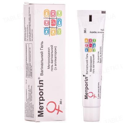 Метрогил вагинальный гель вагин. 10 мг/г по 30 г в тубах