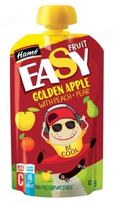 Фруктовое пюре Hame EasyFruit Яблоко с персиком, грушей и бананом, 110 г