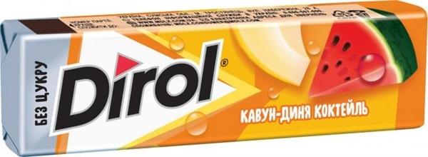Жевательная резинка Dirol Арбузно-дынный коктейль без сахара,14 г