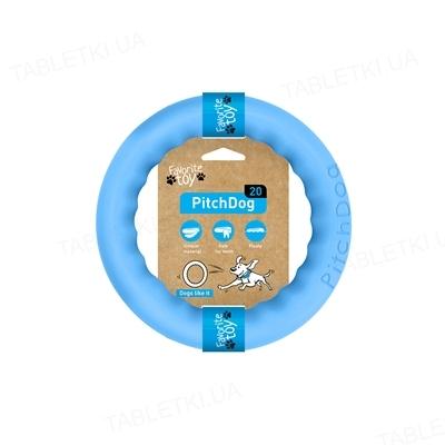 Игрушка-кольцо Collar PitchDog для апортировки для собак, 20 см, голубая