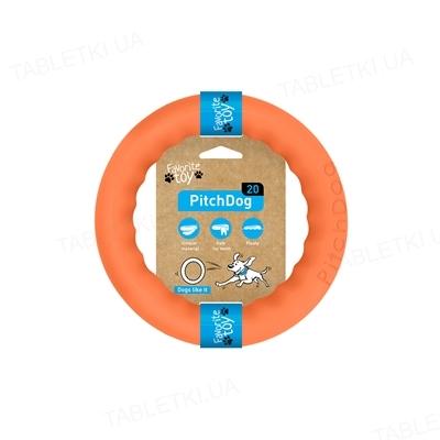 Игрушка-кольцо Collar PitchDog для апортировки для собак, 20 см, оранжевая