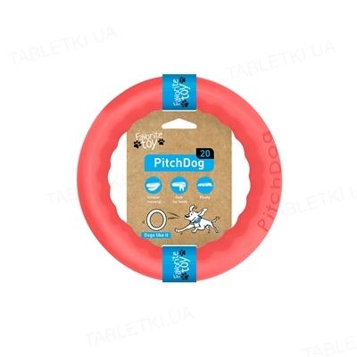 Игрушка-кольцо Collar PitchDog для апортировки для собак, 20 см, розовая