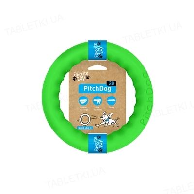 Игрушка-кольцо Collar PitchDog для апортировки для собак, 20 см, салатовая