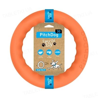 Игрушка-кольцо Collar PitchDog для апортировки для собак, 28 см, оранжевая