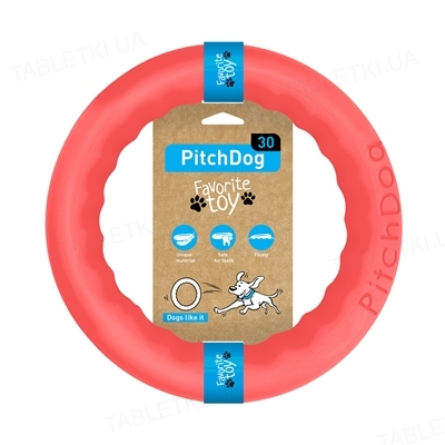 Игрушка-кольцо Collar PitchDog для апортировки для собак, 28 см, розовая
