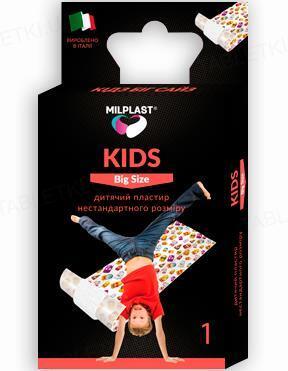 Пластырь медицинский Milplast KIDS Big Size для ран детский, нестандартного размера 50 см х 6 см, 1 штука