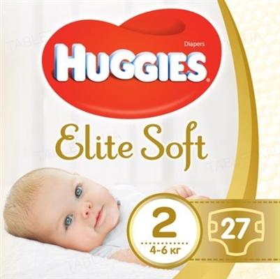 Подгузники детские Huggies Elite Soft, размер 2, 4-6 кг, 27 штук
