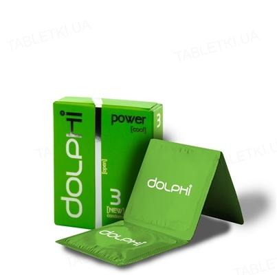 Презервативы Dolphi Lux Power с пролонгирующим эффектом для мужчин, 3 штуки