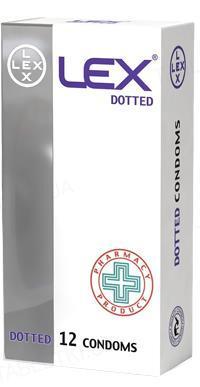 Презервативы Lex Dotted с точками, 12 штук