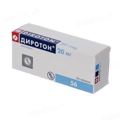 Диротон таблетки по 20 мг №56 (14х4)