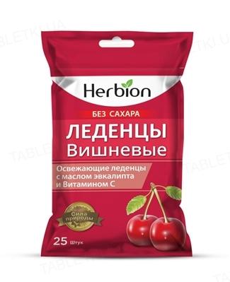Леденцы Хербион для рассас. со вкусом вишня, без сахара №25
