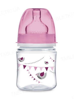 Бутылочка антиколиковая Canpol Babies EasyStart PP Let`s celebrate 35/228_pin с широким отверстием, 120 мл