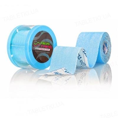 Кинезио тейп REA TAPE Premium 5 см х 5 м, голубой