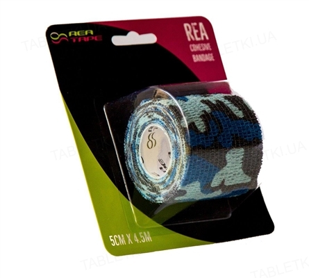 Бинт когезивный REA TAPE Cohesive bandage 5 см х 4,5 м, синий