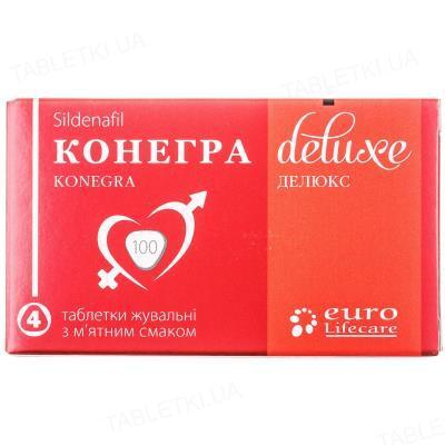 Конегра делюкс таблетки жув. по 100 мг №4 у бліс.