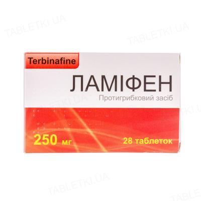 Ламифен таблетки по 250 мг №28 (7х4)