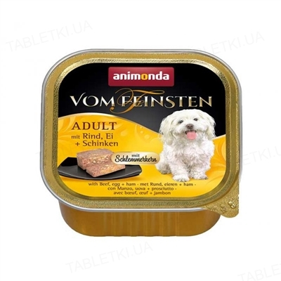 Консервы для собак Animonda Vom Feinsten с говядиной, яйцом и ветчиной 150 г (22 шт)