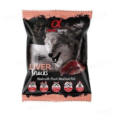 Лакомства полувлажные для собак Alpha Spirit DOG Snacks Liver, 35 г