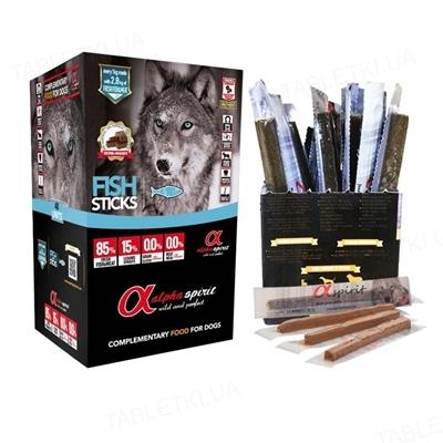 Лакомства полувлажные для собак Alpha Spirit DOG Sticks Fish, 30 штук