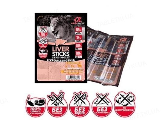 Лакомства полувлажные для собак Alpha Spirit DOG Sticks Liver, 16 штук